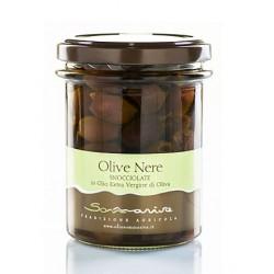 Olive Nere Snocciolate in Olio Extra Vergine di oliva